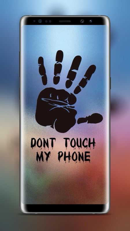 Dont Touch My Phone Black Hands Wallpaper