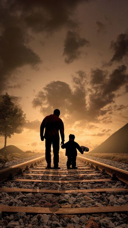 father and son love Wallpaper