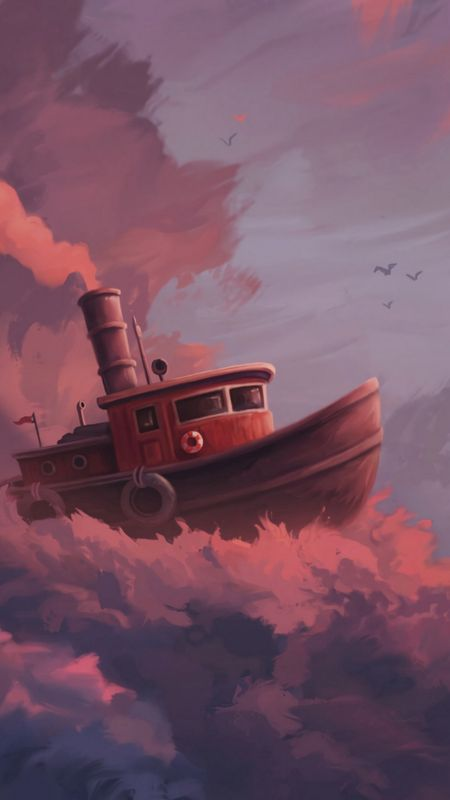 Ship on The Clouds Wallpaper