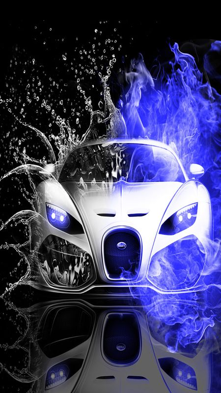 Car Water Splash Wallpaper