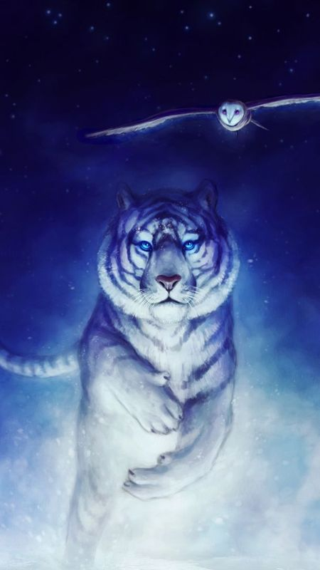 Creative Graphics White tiger Wallpaper