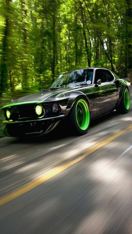 Green Car Wallpaper