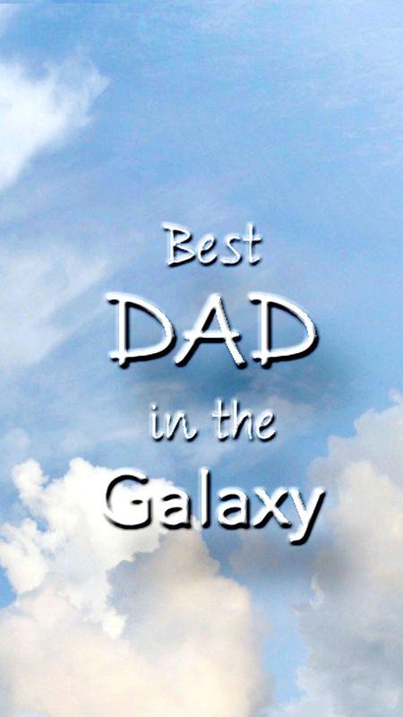 Best Dad in the Galaxy Wallpaper