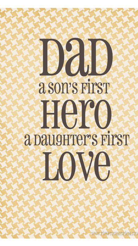 dad the hero Wallpaper