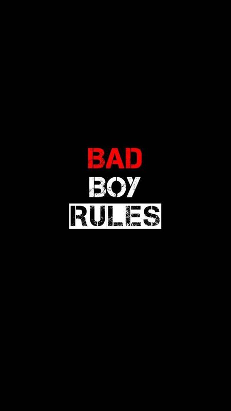 Bad Boy Rules Wallpaper