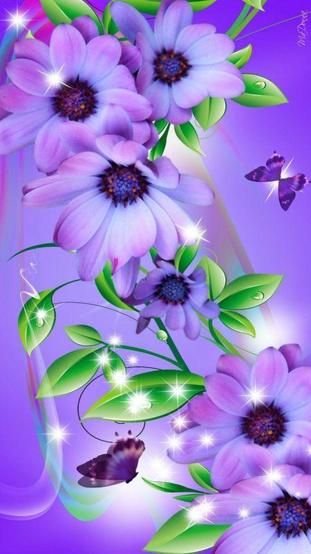 Flowers - purple Flowers Wallpaper